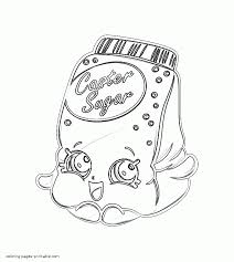 cassie caster sugar shopkins colouring pages free printable