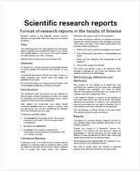 section 7 report template sle scientific report 6 documents in pdf