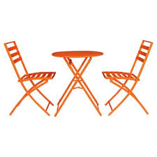 Tesco Bistro Chairs Buy Milan Steel Folding Garden Bistro Set Orange From Our All