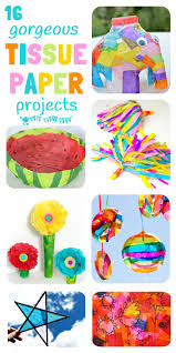 tissue paper crafts for kids kids craft room