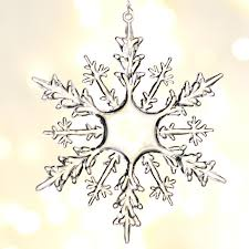 snowflake ornaments clear acrylic snowflake ornaments christmas ornaments