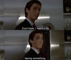 American Psycho Meme - american psycho movies pinterest american psycho movie and horror