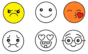Emoji Coloring Pages Black White Video Tutorials