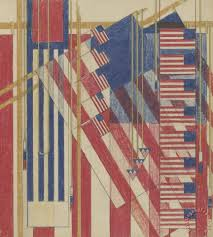 frank lloyd wright the flag liberty magazine cover painting the