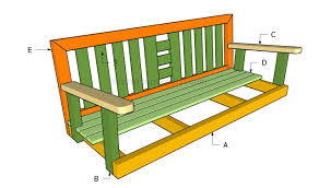 Swing Bench Outdoor by How To Build A Porch Swing Howtospecialist How To Build Step