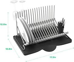 Vremi Dish Drying Rack Collapsible Dish Rack And Drainboard Set - Kitchen sink with drying rack