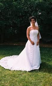 wedding dress david bridal david s bridal michaelangelo 500 size 10 used wedding dresses