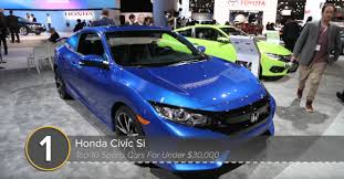 2018 civic si makes autoguide u0027s best sports cars under 30k list