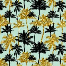 gold glitter palm trees mint mini fabric mirabelleprint