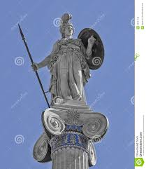 athena the ancient greek goddess statue stock photography image