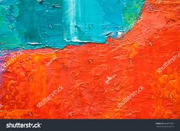 hand drawn oil painting abstract art stock illustration 366877295
