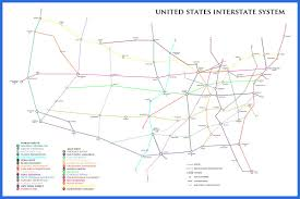 United States Interstate Map by Fun With Maps 3 U00264 Mixed Knuts Travel Blog
