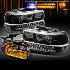 2001 chevy silverado fog lights chevy silverado 1999 2002 black headlights and bumper lights with
