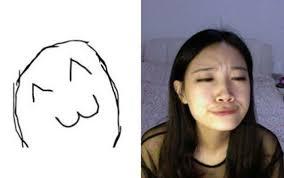 Meme Girl - girl making meme faces fun