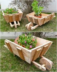 garden wheelbarrow planter home outdoor decoration