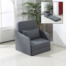 Single Armchair Bed Single Sofa Bed Armchair Soft Seater Sleeper Couch Pillow Comfort