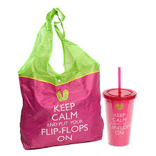 flip flop bag keep calm and put your flip flops on tote bag and tumbler set