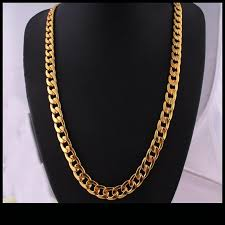 gold big chain necklace images Super high quality 18k gp big phat round cuban link chain necklace jpg