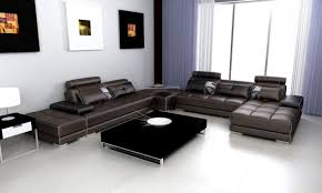 Modern Leather Living Room Leather Sectional Sofa 5005