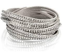leather bracelet swarovski images Aigner leather bracelets chasing magpies jpg