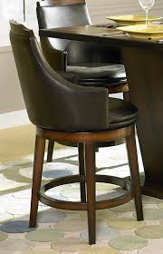 counter height dining table with swivel chairs homelegance bayshore swivel counter height chair leatherette 5447