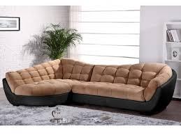 canap d angle cuir noir canapé d angle tissu et cuir leandro caramel et noir angle