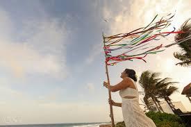Wedding Flag Akumal Punta Sur Riviera Maya Wedding Lorena And Udi