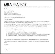 Sample Resume For Research Assistant by Picturesque Design Ideas Psychology Cover Letter 11 Research