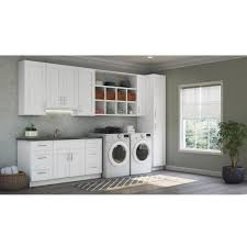 kitchen cabinet kits home depot hton bay shaker ready to install 64x30x12 in laundry