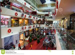 christmas decorations in plaza merdeka kuching editorial stock
