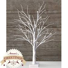 new table top led snowy white tree with 24 led white