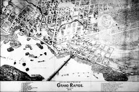 Wisconsin Rapids Map by Bird U0027s Eye View Of The City Of Grand Rapids Wood Co Wis 1874