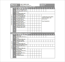 workout schedule template u2013 10 free word excel pdf format