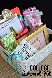 college gift baskets college survival kit with printables