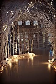 wedding arch lights winter wedding arch branches white lights winter wedding