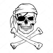 jolly roger pirate skull and crossbones stock vector noedelhap