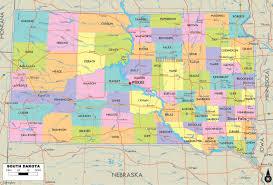 South States Map by South Dakota Map