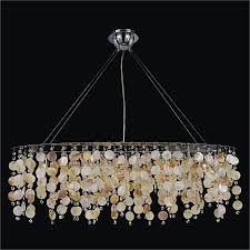 Glow Lighting Chandeliers Oval Chandelier With Oyster Shell And Seaside Dreams 578