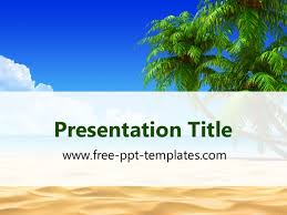 tropical beach ppt template