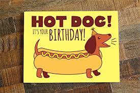amazon com dog birthday card dachshund card weiner dog