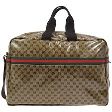 Womens Travel Bags images Gucci new brown crocodile men 39 s women 39 s jacquard weekender top jpg