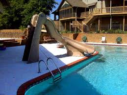 Backyard Pool With Slide - exterior pools with brown slide exterior pools with slides