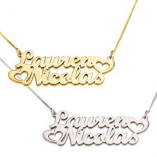 chain name necklace images Two name necklace jpeg