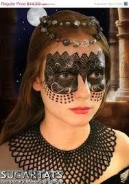 black carnival mask temporary makeup for mardi gras or