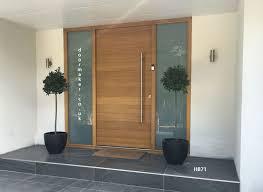 Front Exterior Doors For Homes Contemporary Oak Door With Sandblast Sidelights Pinteres
