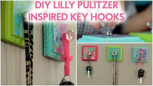 diy lilly pulitzer inspired key hooks