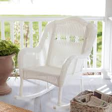 Wicker Outdoor Rocking Chairs Furniture White Rocking Chair With Casco Bay Furniture And