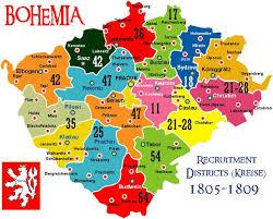 bohemia map the austrian imperial royal army kaiserliche königliche heer