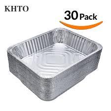 baking container storage khto 30pcs sanitary grills aluminum foil plate pans storage bowls