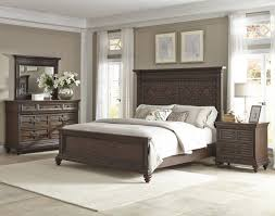 Klaussner Furniture Quality Palencia 4 Piece Panel Bedroom Set In Dark Brown